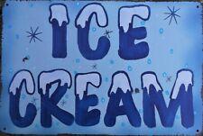 ICE CREAM METAL TIN PLATE SIGNS vintage cafe pub garage retro kitchen office