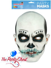 Le jour des morts mâle Sugar Skull Carte Masque 2D Halloween Creepy Clown Masque