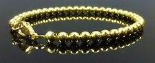 Gold Plated Polished 4mm Ball Bead Bracelet