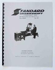 Instruction Manual for the Standard Model 970, 9103 & 9120HD Crankshaft Welder