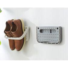 Wall Mount Shoes Rack Folding Hanging Shoe Shelf Holder Organizer Grey