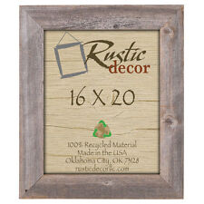 """16x20- 3.5"""" Extra Wide Reclaimed Rustic Barn Wood Wall Frame"""
