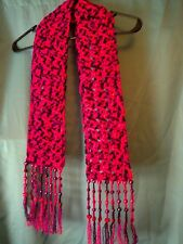 Handmade crochet fashion scarf - unique, one of a kind.