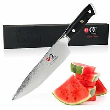 Chef Knife 8 inch By Oxford Chef Damascus Vg10 Super Steel 67 Layer High Carbon