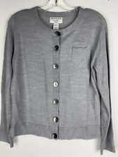 NWT Covington Petite Heather Gray Button Down Cardigan Sweater Womens Sz PL
