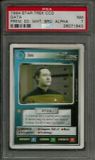 1994 Star Trek CCG Data Prem. Ed. White Brd. Alpha PSA 7 NM POP 1 Card