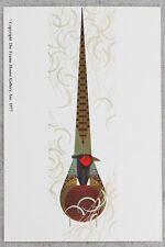 "Charley Harper Phancy Pheathers 1970s Frameable Print Advertising Postcard 4x6"""