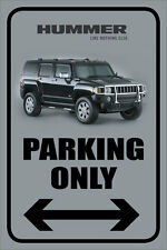 "Hummer 12""x18"" Full Color Metal Auto Parking Sign"