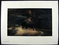Andrew Wyeth Gravure Print NIGHT HAULING & KITCHEN BELL, Teel's Island