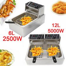 612l Electric Deep Fryer Singledual Tank Stainless Steel Commercial Restaurant