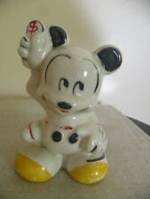 Vintage Mickey Mouse Bank Ceramic 1950's