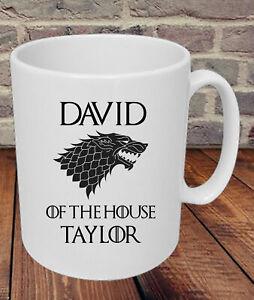 Personalised Game of Thrones Mug Cup - Stark Christmas Birthday Present Gift