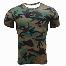Men's Compression Quick Dry Layer Base Fitness Sports Gym Muscle T-shirts Tops