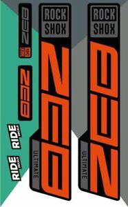 RockShox Zeb Ultimate Decal Kit   Orange   2021