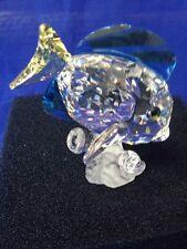 Blue Tang Fish , Colored, Trilogy Gift, Swarovski Crystal Member Piece #0886180.