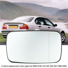 For BMW 3 Serie E46 E39 4 Door Left/Right Side Door Heated Mirror Glass Tinted
