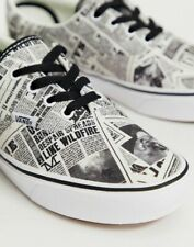 NIB Vans DAILY PROPHET SNEAKERS Harry Potter Ltd BLACK WHT Comfycush Era WOMENS