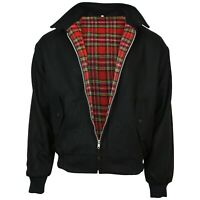 Relco Black Wool Harrington Jacket Skinhead Mod Scooter Ska Northern Soul