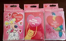 """For Kids To Give ! 5 X3.5 """" Wide ~ 10 Valentine'S Day Cards W/Kitty/Kitten/Cat"""