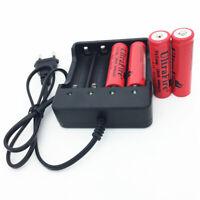 EU Taco 4 Ranuras 18650 Battery Batería Cargador for 3.7V 4x 18650 Recargable