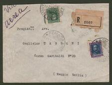 Colonie Italiane. ERITREA. Raccomandata aerea del 14.7.1937 da Asmara per Reggio