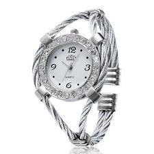 Design Steel Wire Crystal Quartz Beauty Bracelet Wrist Watch For Women Girls hot