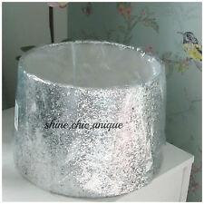 Silver Glitter Sparkle Lamp Shade Light Shade/Pendant Shade Dual Purpose Large