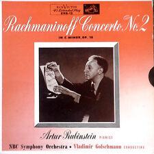 RACHMANINOFF / ARTUR RUBINSTEIN - RCA ERB-12 - CONCERTO NO. 2 - (2) EP SET