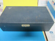 ANTIQUE BAUSCH LOMB WOOD BOX OPTICS  iv  COLLECTABLE BIN#18