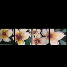 HUGE ABSTRACT FRANGIPANI ORIGINAL Lynne  Pickering COMM C28127 Tropical design