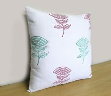 """16"""" Cushion Cover Indian Decorative Square Sofa Red Green Floral Pillow Covers"""