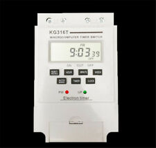 KG316T LCD Microcomputer Timer Switch Programmable Controller 12V White KG-316T