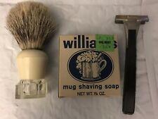 Schick Injector Williams Shaving Soap Boar Shaving Brush Set Tallow And Steel
