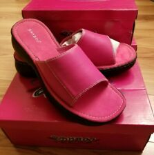 Nib Bamboo Women's Fuchsia Pink Slides Sandals Style Disa-02 Size 11