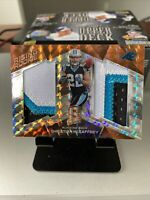 Christian McCaffrey Spectra Rising Rookie 2017 1/5 SSP!! 3 Color Patch