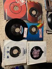 lot of 6-D different Eurythmics Rock Pop vinyl records 45