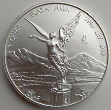1999  Mexican Libertad 1 Onza Plata Pura