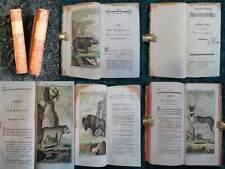 ZOOLOGIE NATUR HISTORIE 68 ORIGINALE KUPFERSTICHE 2 BÄNDE BUFFON 1786/91 #B191S