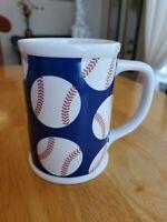 """Starbucks Coffee Mug/Cup 16 oz. Baseballs Red White Blue 2007 EUC  5""""x3.35"""""""