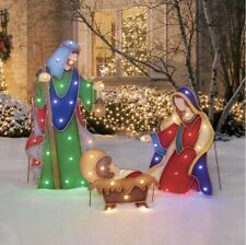 Light-Up LED Nativity, Set of 3 (Joseph, Mary, Jesus)