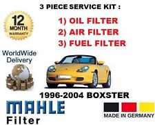 FOR PORSCHE BOXSTER 2.5 2.7 3.2 1996--> 3 PIECE SERVICE OIL AIR FUEL FILTER KIT