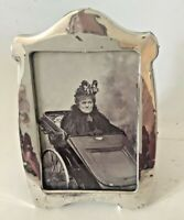 Solid Silver picture frame & origanal possibly, post mortem photo, dated 1905.