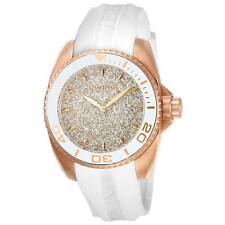 Invicta 22704 Lady's Rose Gold Dial White Silicone Strap Watch
