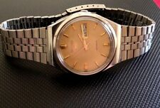 RARE VINTAGE 6309 SEIKO 5 AUTOMATIC GOLD FACE 17 JEWELS MENS WATCH