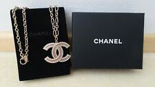 100% originale CHANEL Halskette Kette Necklace pink rosa wie neu