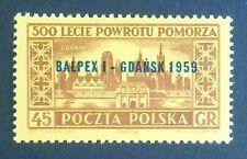 POLAND STAMPS MNH Fi974 Sc866 Mi1118 - BALPEX, 1959, **