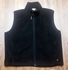 Men's Original WOOLRICH Vest Black Fleece Zip Up (Size XL) Excellent Condition!