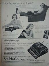 1948 Vintage Smith Corona Typewriter Kappa Kid Technical Department Original Ad