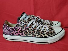 Converse Womens Size 10 Chuck Taylor All Star Leopard Tan Pink Sneakers