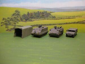 Roco minitanks: US Hummer, M-113 APC, M-106 Mortar Carrier & Tent. 1:87.